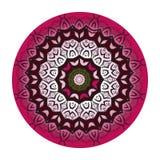 Mandala i körsbärsröda clolors också vektor för coreldrawillustration Arkivfoto