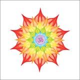 Mandala illustrata vettore illustrazione di stock