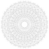 Mandala illustration. Circular intricate pattern. Lace circle design template. Abstract geometric mono line background Royalty Free Stock Image