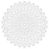 Mandala illustration. Circular intricate pattern. Lace circle design template. Abstract geometric mono line background Stock Photography