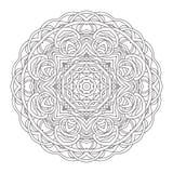 mandala Illustration décorative tirée par la main de vintage Conception ronde de dentelle Photographie stock