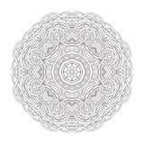mandala Illustration décorative tirée par la main de vintage Conception ronde de dentelle Photo libre de droits