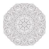mandala Illustration décorative tirée par la main de vintage Conception ronde de dentelle Images libres de droits