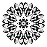 Mandala Illustration preto e branco bonita imagens de stock royalty free