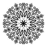 Mandala Illustration preto e branco bonita imagem de stock royalty free