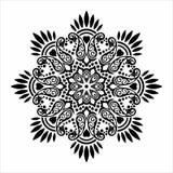 Vector Mandala paisley flower design royalty free stock photography