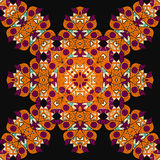 Mandala inconsútil adornada Elemento del diseño del vintage adentro Imagen de archivo libre de regalías