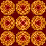 Mandala inconsútil del fondo Imagen de archivo