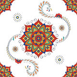 Mandala indù - modello di fiore di Lotus Immagine Stock