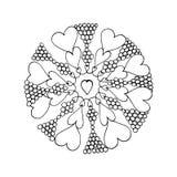 Mandala india de la flor Foto de archivo