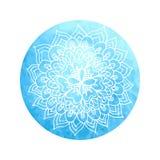 Mandala india de la flor Imagen de archivo libre de regalías