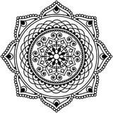 Mandala indiana da flor do elemento da hena de Mehndi para o tatoo ou o cartão Fotografia de Stock Royalty Free