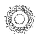 Mandala indiana - fiorisca il modello marocchino rotondo di stile Fotografia Stock Libera da Diritti
