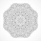 mandala Indiano decorativo étnico dos elementos, Islã, motivos árabes Fotos de Stock Royalty Free