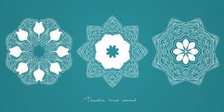 mandala Indiano decorativo étnico dos elementos, Islã, motivos árabes Fotografia de Stock