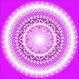 Mandala Indigo. Violet and white mandaka on the violet background Royalty Free Stock Photography