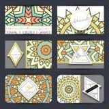 Mandala innovateur de vintage Moderne fait main d'emblème élégant Image libre de droits