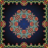 Mandala inside border. Ornate frame with  paisley Royalty Free Stock Image