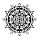 Mandala inspirujący wzór Odizolowywający na bielu ilustracji