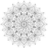 Mandala Intricate Patterns Black e bom humor branco ilustração do vetor
