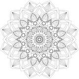 Mandala Intricate Patterns Black e bom humor branco ilustração royalty free