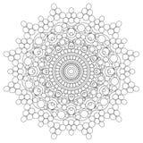 Mandala Intricate Patterns Black e buon umore bianco illustrazione vettoriale