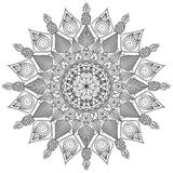 Mandala Intricate Patterns Black e buon umore bianco illustrazione vettoriale