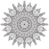 Mandala Intricate Patterns Black en Witte Goede Stemming vector illustratie