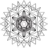 Mandala Intricate Patterns Black en Witte Goede Stemming stock illustratie