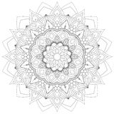 Mandala Intricate Patterns Black et bonne humeur blanche illustration de vecteur