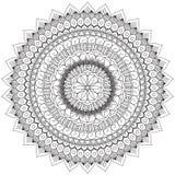 Mandala Intricate Patterns Black et bonne humeur blanche illustration libre de droits
