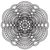 Mandala Intricate Patterns Black och vit arkivbild