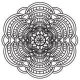 Mandala Intricate Patterns Black och vit royaltyfri illustrationer