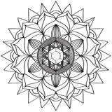 Mandala Intricate Patterns Black och vitt bra lynne stock illustrationer