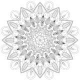 Mandala Intricate Patterns Black och vitt bra lynne arkivfoto