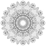 Mandala Intricate Patterns Black och vitt bra lynne vektor illustrationer