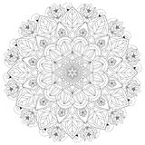 Mandala Intricate Patterns Black och vitt bra lynne royaltyfria bilder