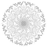 Mandala Intricate Patterns Black och vitt bra lynne arkivfoton