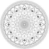 Mandala Intricate Patterns Black och vitt bra lynne royaltyfri fotografi