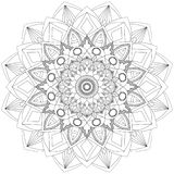 Mandala Intricate Patterns Black och vitt bra lynne royaltyfria foton