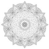 Mandala Intricate Patterns Black und weiße gute Laune lizenzfreie abbildung