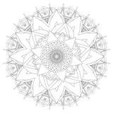 Mandala Intricate Patterns Black und weiße gute Laune vektor abbildung