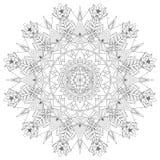 Mandala Intricate Patterns Black und weiße gute Laune stock abbildung