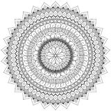 Mandala Intricate Patterns Black and White Good Mood. royalty free illustration