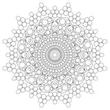 Mandala Intricate Patterns Black and White Good Mood. vector illustration
