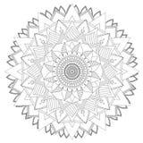 Mandala Intricate Patterns Black and White Good Mood. royalty free illustration