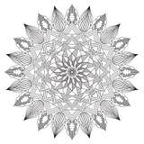 Mandala Intricate Patterns Black y blanco stock de ilustración