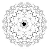 Mandala islámica en fondo aislado Foto de archivo