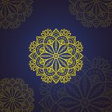 Mandala isl?mica de la flor Elementos decorativos de la vendimia Modelo oriental, ejemplo del vector Islam, ?rabe, indio, marroqu libre illustration
