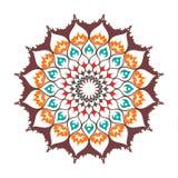 Mandala islamica Decorazione orientale isolata sul vettore bianco Fotografia Stock